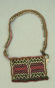 Africa | Apron/girdle from the Zulu people of South Africa | Fiber, glass beads and metal