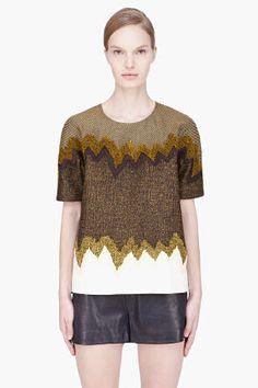 KENZO gold combo textured t-shirt