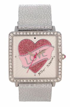 Betsey Johnson 'Bling Bling Time' Love Dial Watch available at #Nordstrom