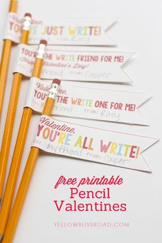Valentines Pencil Free Printables