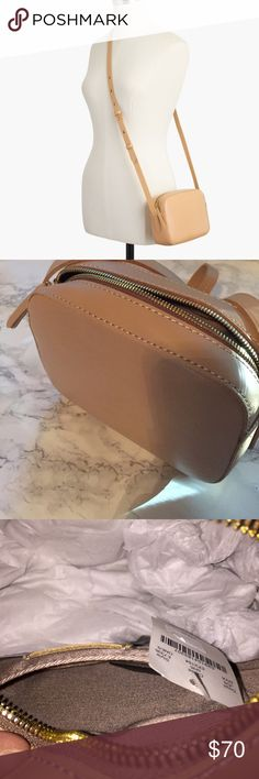 """J. Crew Marlo Crossbody Bag NWT Marlo Crossbody Bag from J. Crew. Versatile light camel color and perfect for everyday use.  5 3/8"""" x 7 1/4"""" x 2 1/5"""". 24"""" shoulder drop.  Perfect condition J. Crew Bags Crossbody Bags"""