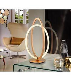 Comprar online Lámpara de Sobremesa Colección OCELLIS Oro Luz Led, Egg Chair, Mirror, Tan Solo, Table, Furniture, Design, Home Decor, Products