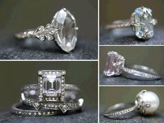 Fanciful engagement rings and wedding bands by Cathy Waterman | Trends - weddinge.net...