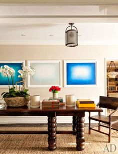 Anish Kapoor prints are displayed in the dining room at the 1937 Wallace Neff house in L.A.'s Holmby Hills neighborhood.