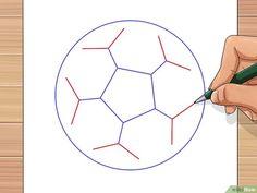 Imagen titulada Draw a Soccer Ball Step 28 Soccer Pro, Soccer Drills, Kids Soccer, Soccer Ball, Five Sided Polygon, Drawing Utensils, Ball Drawing, Soccer Birthday, Kids Rugs