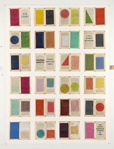 William Kentridge, Eye Chart, 2012, Drawing: Watercolour and pastel on book pages
