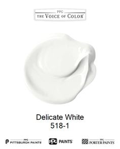 Delicate White is a part of the collection by PPG Voice of Color®. Browse this paint color and more collections for more paint color inspiration. Get this paint color tinted in PPG PITTSBURGH PAINTS®, PPG PORTER PAINTS® & or PPG PAINTS™ products.