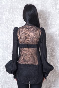 IF SIX WAS NINE – Back Lace Shirt | -PNP, fashion stores in Florence