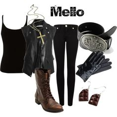 """""""Mello from Death Note"""" by animeinspirations on Polyvore"""