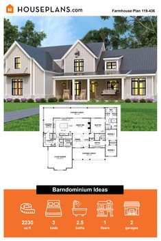 Here's a monder farmhouse exterior with cute front porch ideas. Inside, an open floor plan makes it easy to move between rooms. Questions? Call 1-800-913-2350 today. #blog #architecture #modern #bungalow #architect #architecture #buildingdesign #country #craftsman #houseplan #homeplan #house #home #homeblog Modern Farmhouse Exterior, Farmhouse Design, Farmhouse Style, Modern Bungalow, Porch Ideas, Open Floor, Building Design, Porch Decorating, Front Porch
