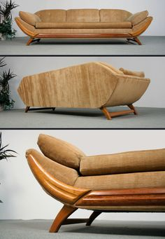 Pearsall Style Gondola Sofa @ http://www.furnishmevintage.com