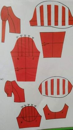 Corset Sewing Pattern, Dress Sewing Patterns, Clothing Patterns, Dressing Gown Pattern, Sewing Tutorials, Sewing Projects, Textile Manipulation, Sewing Sleeves, Pattern Draping