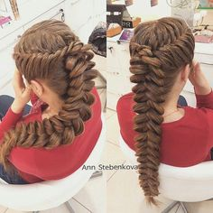 Beautiful Braids That Will Blow Your Mind Photos) Beautiful Braids That Will Blow Your Mind Photos) The Perfect Braids with blonde high lights burgundy Braids See Also Braided Hairstyles, Hairstyle Goddess braids double Trending Hairstyles, Girl Hairstyles, Teenage Hairstyles, Love Hair, My Hair, Fishtail Braid Hairstyles, Pinterest Hair, Beautiful Braids, Creative Hairstyles