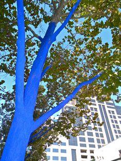 Blue Trees installation by Konstantin Dimopoulos via katiedid