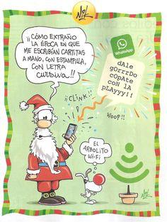 La nostalgia de Papá Noel que ya no recibe cartitas escritas en cursiva.