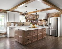 The original kitchen was choppy and dark. We reconfigured it to bring in lots of… - Luxury Kitchen Remodel Kitchen On A Budget, Home Decor Kitchen, New Kitchen, Kitchen Ideas, Kitchen Layout, Kitchen Tips, Country Kitchen, Luxury Kitchens, Cool Kitchens