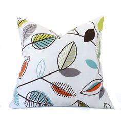 Decorative throw pillow 18x18 Orange pillows Green by PillowCorner, $22.95