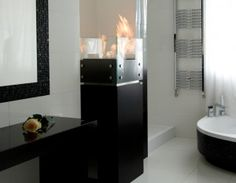 Biokominek BARU  410x1325 mm Teak, Mirror, Bathroom, Frame, Furniture, Home Decor, Washroom, Picture Frame, Bath Room