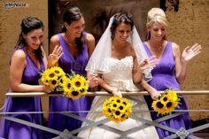 #bouquet di girasoli per la #sposa e le damigelle