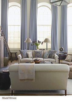 gorgeous drapery around light-filled windows