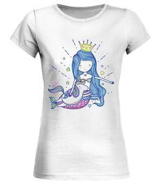 Mermaid-With-Unicorn Round neck T-Shirt Woman - Mermaid T Shirt - Ideas of Mermaid T Shirt - Mermaid-With-Unicorn Round neck T-Shirt Woman Unicorn Outfit, Unicorn Birthday, Neck T Shirt, Clothes For Women, Woman, Tees, Mens Tops, Mermaid Mermaid, Shirt Ideas