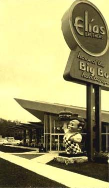 Elias Brothers Big Boy the sandwich is copied by McDonald's BigMac but cannot compare Royal Oak Michigan, Detroit Michigan, Detroit History, Local History, Big Boy Restaurants, Detroit Area, Old Signs, Googie, Motown