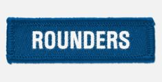 'Rounders' woven cloth badge with overlocked edges, various colours are available. *colours may vary slightly in shade due to differing monitor colours and manufacturing processes Size Badges, Monitor, Colours, Clothes, Decor, Outfits, Decorating, Outfit Posts, Dekoration