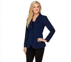 64.33$  Watch here - http://vigcr.justgood.pw/vig/item.php?t=lf8y93k59184 - Mark Zunino Chic Long Slv Style Button Front Blazer Solid Navy 16 NEW A258251 64.33$