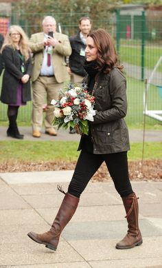 Thrifty Kate was sporting the same pair of £475 dark mid-length Penelope Chilvers boots th...