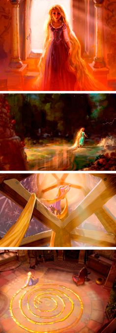 Concept art for Rapunzel Tangled Walt Disney, Disney Parks, Disney Pixar, Disney Tangled, Disney And Dreamworks, Disney Animation, Disney Love, Disney Magic, Tangled Movie