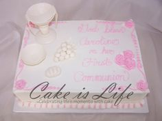 First Communion Cake My Daughters Yellow