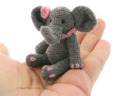 Ellie Elephant crochet pattern by BruBears on Etsy