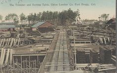 The Trenster and Sorting Table, Union Lumber Company. Train Table, Fort Bragg, Old Signs, Outdoor Toys, Train Tracks, Models, Outdoor Christmas, Model Trains, Sorting