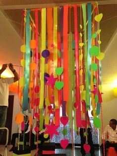 """Possible ideas for Sweet 16 """"Neon"""" themed party Glow In Dark Party, Glow Party, Neon Birthday, 13th Birthday Parties, Neon Party Decorations, Party Themes, Party Ideas, 70s Party, Disco Party"""