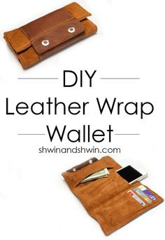 Awesome Crafts for Men and Manly DIY Project Ideas Guys Love - Fun Gifts, Manly Decor, Games and Gear. Tutorials for Creative Projects to Make This Weekend | Leather Wrap Wallet | http://diyjoy.com/diy-projects-for-men-crafts