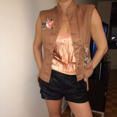 Bohemian chic Chinese embroidered embellished vest Bohemian chic Chinese embroidered embellished vest H&M Tops
