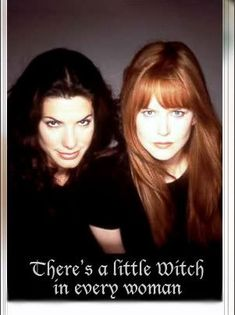 """Sally and Gillian Owens - Sandra Bullock & Nicole Kidman from the film """"Practical Magic"""" Elizabeth Montgomery, Sandra Bullock Nicole Kidman, Practical Magic Movie, Great Movies, Divas, Actors & Actresses, Movie Tv, At Least, Hollywood"""