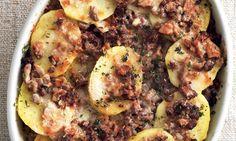 Pasticcio di patate con ragù ai funghi