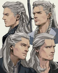 fictional characters You see I was just doodling Geralt and then. The Witcher Series, The Witcher Game, The Witcher Geralt, Witcher Art, Character Concept, Character Art, Concept Art, Fanart, Witcher Wallpaper