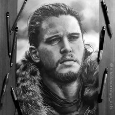 Jon Snow drawing by Nikolas Arroyo