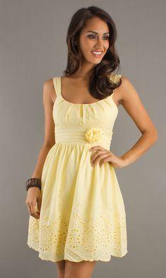 Sundress, Sleeveless Eyelet Dress for Summer - Simply Dresses