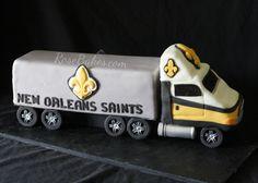 Tips for Making This New Orleans Saints 18 Wheeler Truck Groom's Cake - Rose Bakes