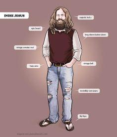 """""""Indie Jesus""""    http://www.ufunk.net/en/humour/your-scene-sucks/"""