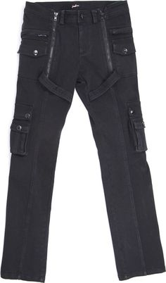 Gothic men's pants with side pockets by Punk Rave
