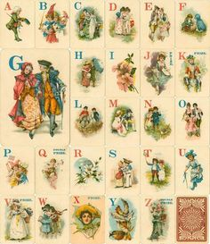 Vintage Logomachy game card digital images available for purchase