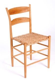 Riven wood chair