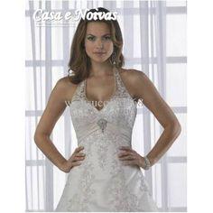 Casa e Noivas - Vestido de Noiva Halter Coleção Elegance Modelo VM 020306