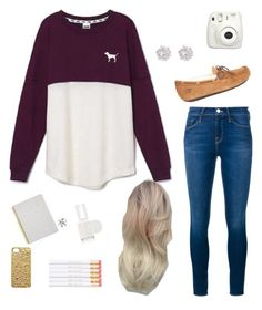 """""""September"""" by jessicaaeo ❤ liked on Polyvore featuring Victoria's Secret, Frame Denim, UGG Australia, River Island, Essie, Marc by Marc Jacobs, Tiffany & Co. and Sugar Paper"""