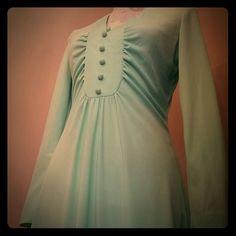 Mint Green Vintage Dress