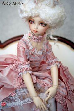 arcadia, bjd, doll, eyes, marie antoinette, pink